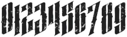 almanac italic grunge otf (400) Font OTHER CHARS