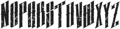 almanac italic grunge otf (400) Font UPPERCASE