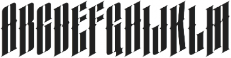 almanac italic otf (400) Font UPPERCASE
