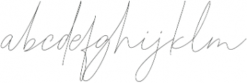 aloha script font otf (400) Font LOWERCASE