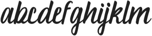 aluna otf (400) Font LOWERCASE
