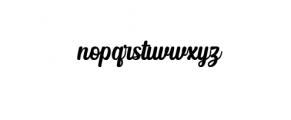 Albertiny Font LOWERCASE