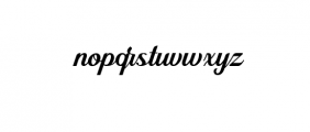 Alleyster Font LOWERCASE