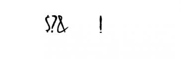 alienfrogs.ttf Font OTHER CHARS