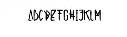 alienfrogs.ttf Font UPPERCASE