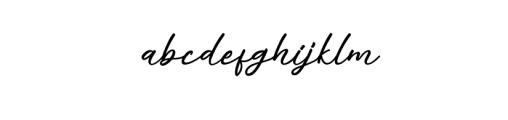 alisha.otf Font LOWERCASE