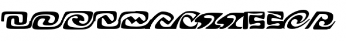 Alexia Borders Regular Font LOWERCASE