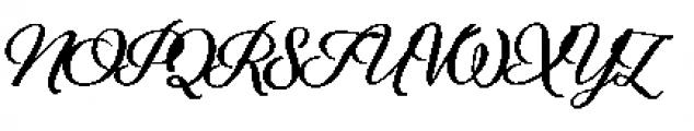Alfons Brush Bold Font UPPERCASE
