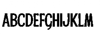 Alfons Condensed Bold Font LOWERCASE