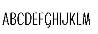 Alfons Condensed Regular Font UPPERCASE
