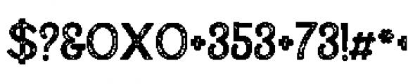 Alfons Display Regular P Font OTHER CHARS