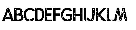 Alfons Display Regular P Font UPPERCASE