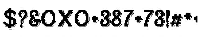 Alfons Display Regular S Font OTHER CHARS
