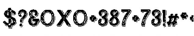 Alfons Display Regular SP Font OTHER CHARS