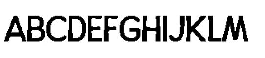 Alfons Display Regular Font UPPERCASE