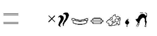 Alfons Extras Regular Font OTHER CHARS