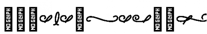 Alfons Ornaments Black Font OTHER CHARS