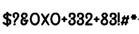 Alfons Sans Black Font OTHER CHARS