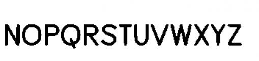 Alfons Sans Bold Font LOWERCASE