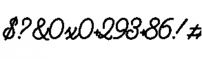 Alfons Script Black Font OTHER CHARS