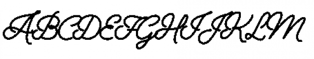 Alfons Script Black Font UPPERCASE