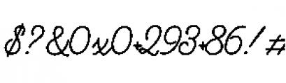 Alfons Script Bold Font OTHER CHARS