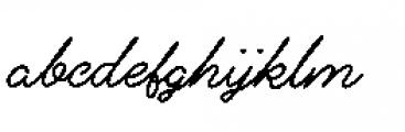 Alfons Script Bold Font LOWERCASE