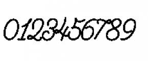 Alfons Script Extra Bold Font OTHER CHARS