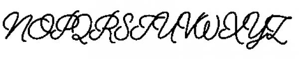 Alfons Script Extra Bold Font UPPERCASE