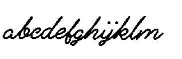 Alfons Script Extra Bold Font LOWERCASE