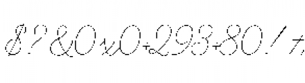 Alfons Script Extra Light Font OTHER CHARS