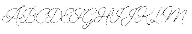 Alfons Script Extra Light Font UPPERCASE