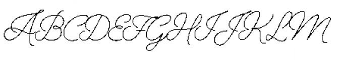 Alfons Script Light Font UPPERCASE
