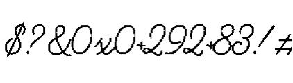 Alfons Script Medium Font OTHER CHARS