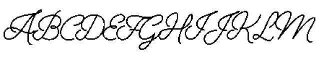 Alfons Script Medium Font UPPERCASE