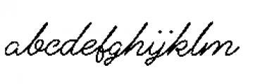 Alfons Script Medium Font LOWERCASE