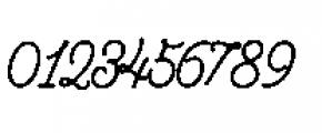 Alfons Script P1 Font OTHER CHARS
