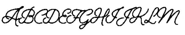 Alfons Script P1 Font UPPERCASE