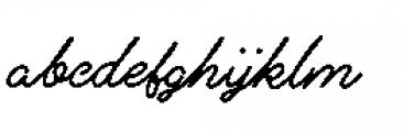 Alfons Script P1 Font LOWERCASE