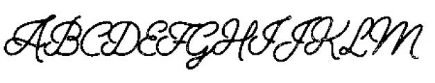 Alfons Script P2 Font UPPERCASE