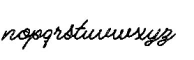 Alfons Script P2 Font LOWERCASE