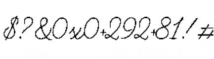 Alfons Script Regular Font OTHER CHARS