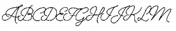 Alfons Script Regular Font UPPERCASE