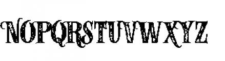 Alfons Serif Bold P Font UPPERCASE