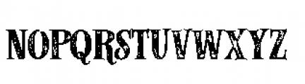 Alfons Serif Bold P Font LOWERCASE