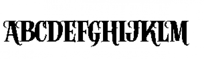 Alfons Serif Bold Font UPPERCASE