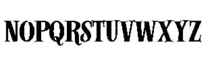 Alfons Serif Bold Font LOWERCASE