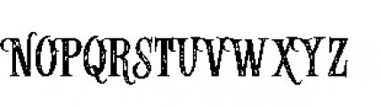 Alfons Serif Printed Font UPPERCASE