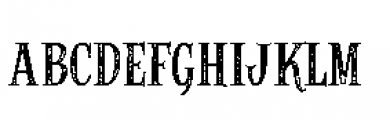 Alfons Serif Printed Font LOWERCASE