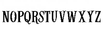 Alfons Serif Regular Font LOWERCASE